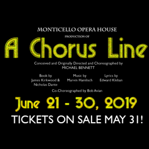 """A Chorus Line"" at Monticello Opera House"