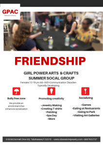 Girl Power Arts and Crafts Social Group
