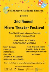 Tallahassee Hispanic Theater's Second Annual Micro Theater Festival
