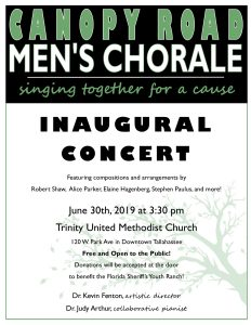 Canopy Road Men's Chorale Inaugural Concert