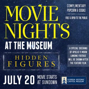 Movie Night at the Museum featuring Hidden Figures...