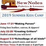 SewNoles Summer Sewing Camp