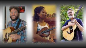 Danny Goddard, Kayla Williams, and George Gray at Blue Tavern