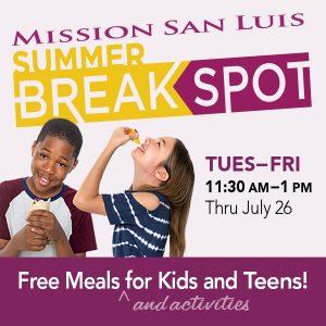 BreakSpot Free Meals & Activities for Kids