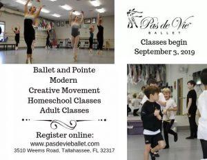 Pas de Vie Ballet's 2019-2020 Classes
