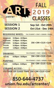 Oglesby Art Center Fall 2019 Art Studio Classes
