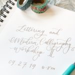 Lettering & Modern Calligraphy Workshop (Intermediate Level)