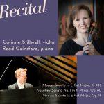 Corinne Stillwell, violin & Read Gainsford, piano