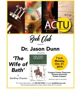 ACTU Book Club: Dr. Jason Dunn Discusses Chaucer's...