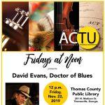 Friday at Noon: David Evans, Dr. of Blues