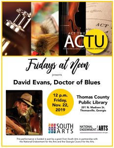 Friday at Noon: David Evans, Dr. of Blues