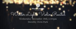 Winter Lights Violin Recital