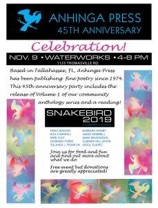 Anhinga Press 45th Anniversary Celebration