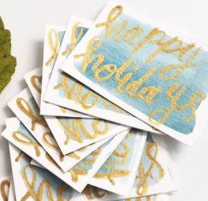 Holiday Hand Lettered Greeting Cards