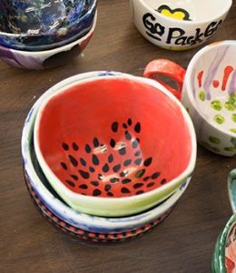 Empty Bowls Painting Fundraiser
