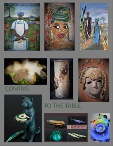 "Opening of ""Coming to the Table"" a mixed-media sho..."