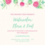 Watercolor: Flora & Font