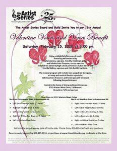 Valentine Voices & Verses Benefit