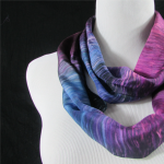 Shibori Dyeing on Silk Scarves
