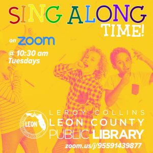 Virtual Sing Along Time with the Leon County Public Library
