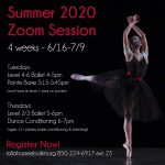 The Tallahassee Ballet 2020 4-Week Zoom Summer Class Session