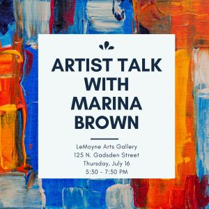 Artist Talk with Marina Brown