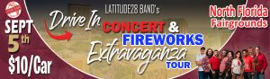 Drive-In concert with Latitude28 plus a fireworks extravaganza
