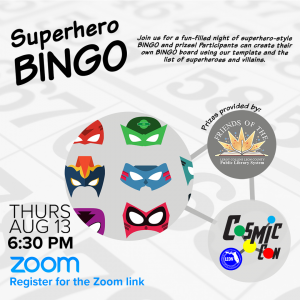 Leon County Library CosmicCon: Superhero BINGO