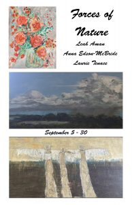 """""""Forces of Nature"""" Opens at Jefferson Arts Gallery Saturday September 5"""