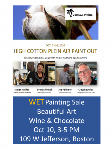 Wet Painting Sale with Pines & Palms