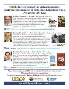 Holocaust Education Week