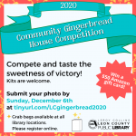 Community Gingerbread House Competition