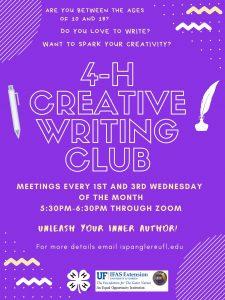 4-H Creative Writing Club