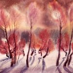 Holiday Greetings in Watercolor