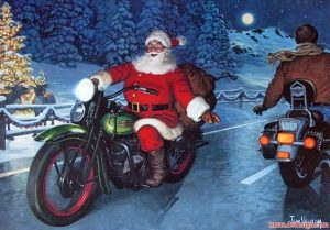 """Rockin' Santa on a Harley"" - fundraiser for local..."