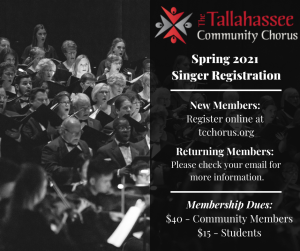 Singer Registration is Now Open for Tallahassee Co...