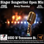 Singer Songwriter Open Mic - Full Bands Welcome - ...