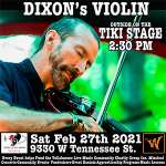 Dixon's Violin outside concert at The Warrior On The River