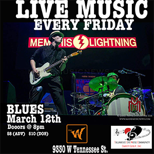 Memphis Lightning a full night of Blues Music on t...
