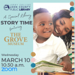 Special Virtual Story Time with The Grove Museum