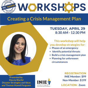 INIE Creating a Crisis Management Plan Workshop