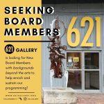Seeking New Board Members for 621 Gallery