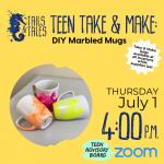 Thursday Teen Hangout - Teen Take & Makes: DIY Marbled Mugs