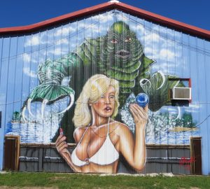 Creature from the Black Lagoon Mural