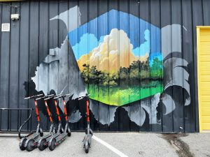 Craft House Cloudscape Mural