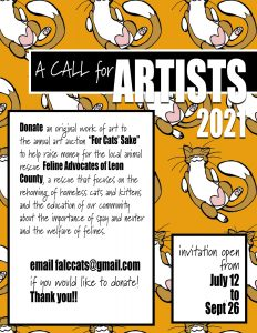 """Call For Artists """"For Cats' Sake"""" Fundraiser"""