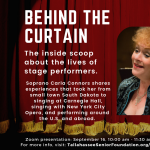 Behind the Curtain with soprano Carla Connors