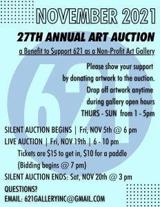 Seeking Artists for 27th Annual Art Auction