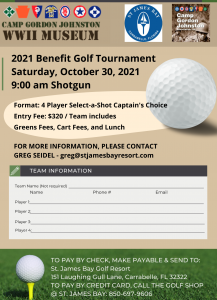 2021 Camp Gordon Johnston Museum Golf Tournament &...
